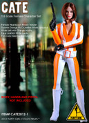 Flirty Girl - Spy Suit - Orange - Cate - No One Lives Forever