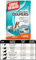 Large Fashion Disposable Diaper (12 pack) by Simple Solutions