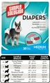 Medium Disposable Diapers (30 Pack) by Simple Solutions