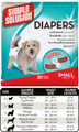 Small Disposable Diaper (30 Pack) by Simple Solutions