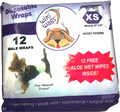 Wiki Wags Disposable Male Wrap Belly Band in XS are great to help potty train puppies, male marking, social visits, incontinence, surgical wraps, and use with The Housebreaker Kit