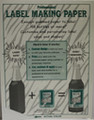 Label making paper (wh/18)