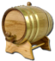 2 Liter Barrel w/ Brass Hoops