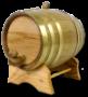 3 Liter Barrel w/ Brass Hoops