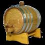 1 Liter Barrel w/ Steel Hoops