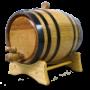 2 Liter Barrel w/ Black Hoops