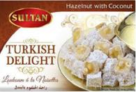 Sultan Turkish Delight Hazelnut with coconut /   حلوى الحلقوم التركية بالبندق