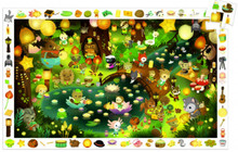 Party in the Forest Observation 35 Piece Jigsaw Puzzle by Djeco
