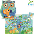 Hello Owl 24 Piece Jigsaw Puzzle by Djeco