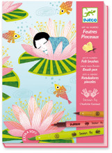 Nymphea (Water Lily) Art by Numbers Felt Brushes by Djeco