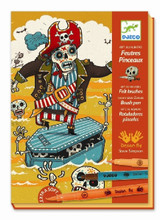 Scared Stiff (Pirates) by Numbers Felt Brushes by Djeco