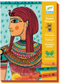 Egyptian Art by Numbers Felt Brushes by Djeco