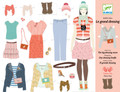 One Big Dressing Room Paper Doll by Djeco