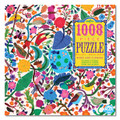 Birds and Flowers 1008 Piece Jigsaw Puzzle by Eeboo