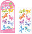 Rainbow Ponies Glitter Stickers by Peaceable Kingdom