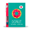 Doughnut Sketch & Sniff Note Pad & Glitter Gel Pen by Scentco