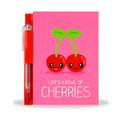 Cherry Sketch & Sniff Note Pad & Glitter Gel Pen by Scentco