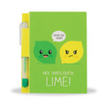 Lime Sketch & Sniff Note Pad & Glitter Gel Pen by Scentco