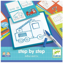 Step by Step Drawing Arthur & Co by Djeco