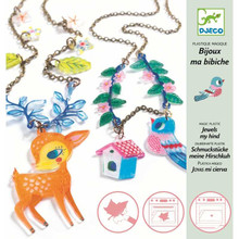 Magic Plastic Fawn & Bird Jewels by Djeco