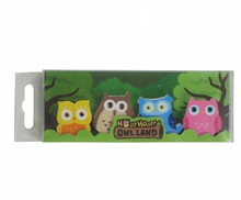 Owl Land Erasers by Keycraft