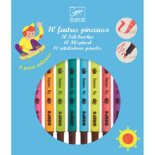 10 Double Ended Felt Tips Colours (incl. 4 neon colours) by Djeco