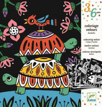 Creepy Crawlies Velvet Colouring Cards by Djeco