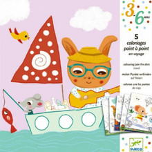 Join the Dots Colouring Cards by Djeco