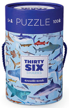 Thirty-Six Sharks 100 Piece Puzzle by Crocodile Creek