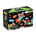 Glow in the Dark Superhero 100 Piece Jigsaw Puzzle by Mudpuppy