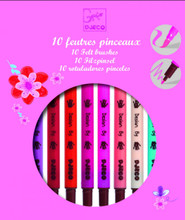 10 Felt Pens for Girls by Djeco