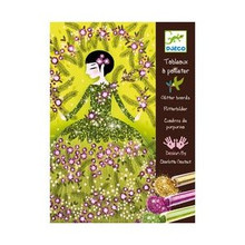 Dresses Glitter Boards Craft Kit by Djeco Box