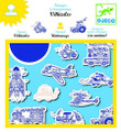 Vehicles Stamp Set by Djeco