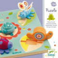 Wooden Tortoise and Friends Lift Out Puzzle by Djeco