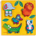 Wooden and Felt Happy Jungle Lift Out Puzzle by Djeco