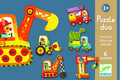 Articulo Vehicles Puzzles Duo by Djeco Box