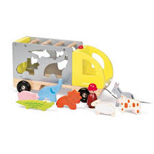 Wooden Multi Animo Shape Sorting Truck by Janod
