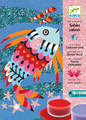 Rainbow Fish Coloured Sand and Glitter Art by Numbers by Djeco (box)