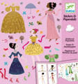 Dresses Through the Season Stickers and Paper Dolls by Djeco