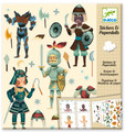 Knights Stickers and Paper Dolls by Djeco