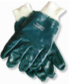 Smooth Finish Blue Nitrile Work Gloves