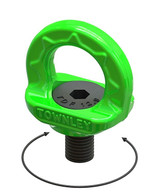 M8 Grade 100 Swivel Eye Bolt - WLL: 1.0 Tonne