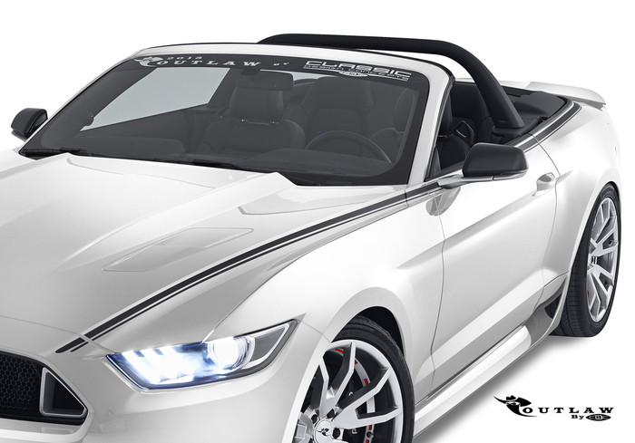 2015-16 Mustang Outlaw Graphics, Convertible
