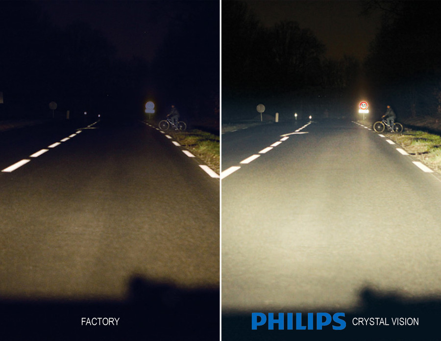 Stock Halogen v.s. Philips Crystal Vision