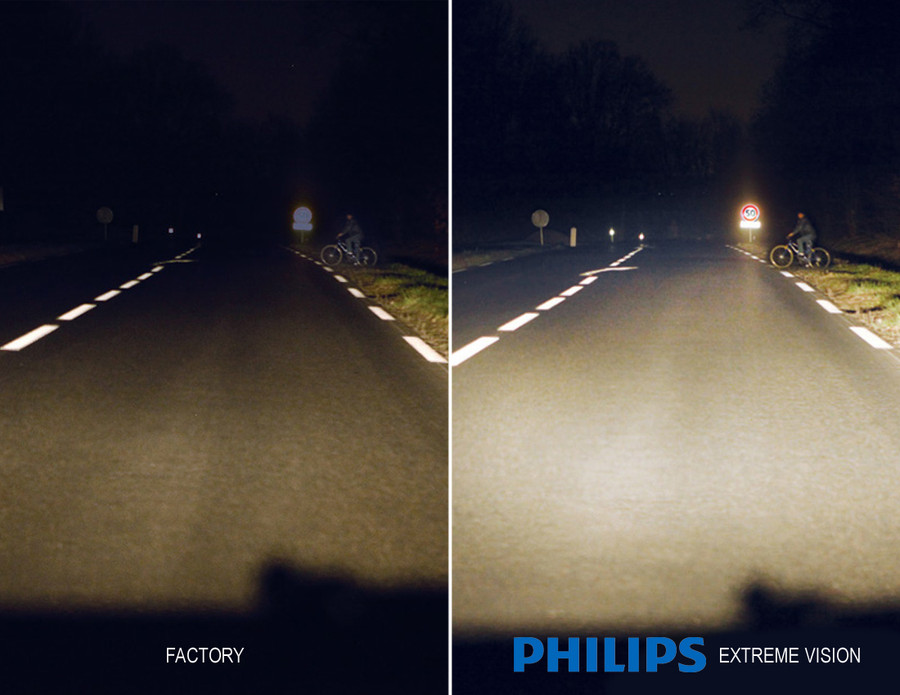 Stock Halogen v.s. Philips Extreme Vision