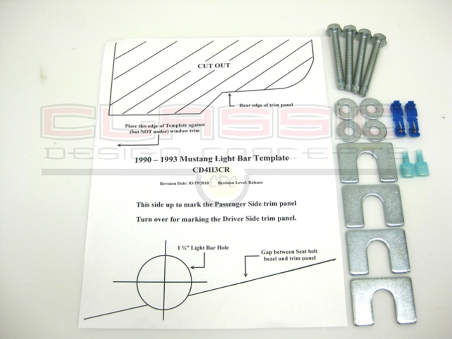 #181006 - 90-93 Mustang Light Bar Hardware Kit