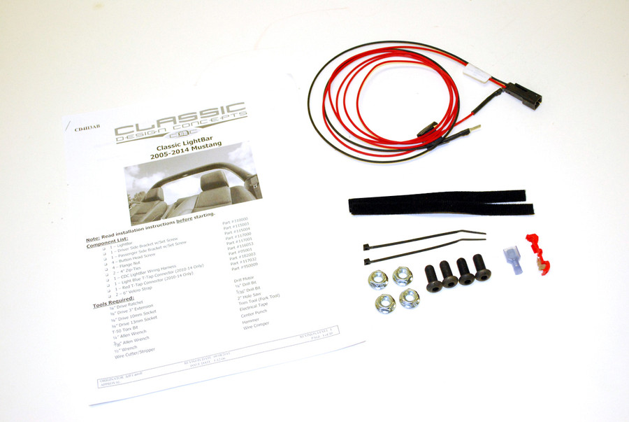 #112000 - 05-14 Mustang Light Bar Hardware Kit