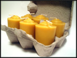 Pure beeswax 2 oz votive candles
