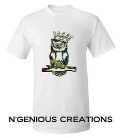 N'GENIOUS CREATIONS OWL SIGNATURE TEE- LIMITED EDITION CAMOUFLAGE