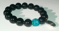 INSPIRATIONAL STRETCH BRACELET WITH PAVE BEAD ACCENT